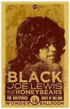 BLACK JOE LEWIS & THE HONEYBEARS 2011 Gig POSTER Portland Oregon Concert