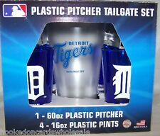 Detroit Tigers MLB Plastic 60oz. Pitcher & 4 -16oz. Glasses Tailgate Gift Set