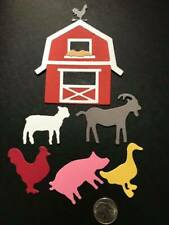 1 Barn with Farm Animals Premade PAPER Die Cuts / Scrapbook & Card Making