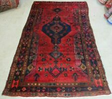 """Antique 4'8"""" X 8'2"""" Hand knotted Rug Lur"""