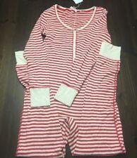 8827d2f83197 Victoria s Secret PINK Long Jane One Piece Thermal Pajama Bodysuit Med  Fireside