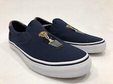 NEW RALPH LAUREN POLO BEAR THOMPSON SLIP ON NAVY BLUE Shoes SNEAKER MENS Sz 10 M