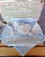 Grand Doudou plat éléphant bleu ciel ronds en reliefs hyper doux Nuby Bébé