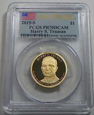 2015-S Dwight D Eisenhower Presidential Dollar PCGS PR70DCAM First Strike Flag