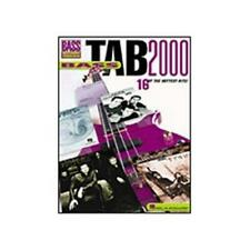 """BASS TAB 2000""-BASS RECORDED VERSIONS MUSIC BOOK-BRAND NEW ON SALE GUITAR RARE!"