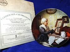 Norman Rockwell's Grandma's Love Factory Box Coa