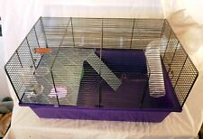 Petsathome Large Wire Hamster Gerbil Rodent Cage with Tunnel and Accessories