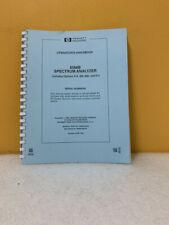 HP 08566-90045 8566B Spectrum Analyzer Operator's Handbook
