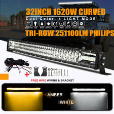 """Tri Row 32inch 1620W Curved Led Light Bar Combo Offroad Jeep Ford Truck ATV 36"""""""