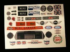 1/10 RC Stickers Decal Sheet Precut Customized Mini Cooper Add ons