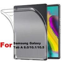 Soft Silicone TPU Transparent Slim Case Cover For Samsung Galaxy Tab A 8.0 10.1