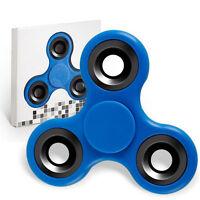 Spinner Fidget Jouet Tri Fidget Hand Spinner Pour Adultes Enfant, couleur BLEU