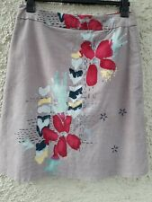 10cd3442eb WHITE STUFF BEAUTIFUL VELVET PRINTED SKIRT WITH EMBROIDERY DETAILING SIZE 14