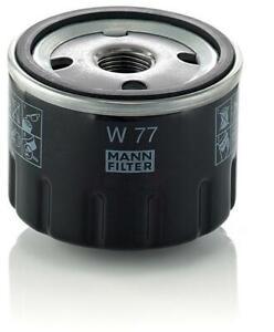 Mann-filter Oil Filter W77 fits Renault 12 12 1.3 (1170) 1.3 TS (1177, 1337)
