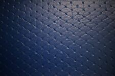 "Marine Vinyl Pac Blue Embossed Stitch Outdoor Auto Fabric Boat Upholstery 54"" W"