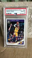 2018-19 Panini Donruss Optic Lebron James #94 PSA 10 GEM MINT Lakers