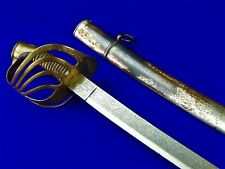 Antique French France Spanish Spain Blade 19 Century Cavalry Sword w/ Scabbard
