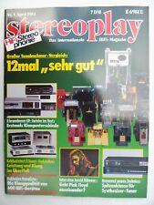 Stereoplay 4/84. Burmester 828, mcintosh mc 2500, Yamaha 101 M, Kenwood Basic T 2