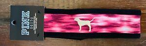 New Victoria Secret PINK VS Head Band Dog Puppy Pink & Black
