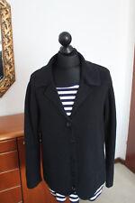 *Monari*, Damen Strickweste, dunkelblau, Gr. 44 + gestreiftes T-Shirt von Laura