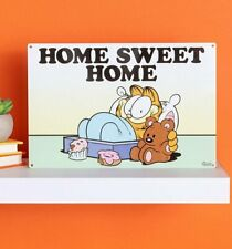 Official Garfield Home Sweet Home Metal Sign