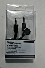 Auxiliary Audio Cable 3 Ft Vivitar iPhone MP3 Smartphones Tablets