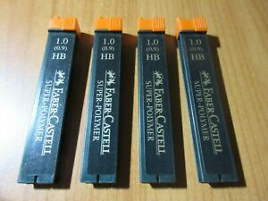 Faber-Castell Super Polymer Mechanical Leads - HB, 1.0 mm x 4 tubes in stock