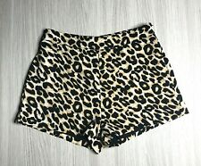 Naughts and Crosses Women's Shorts Leopard Print Cotton Blend Size 8