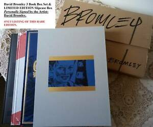 RARE David Bromley 3 ART Books Box Set & Exclusive Autographed Box- NEW