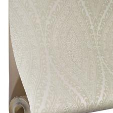 Grandeco Wallpaper - Luxury Kismet Damask / Glittered - Cream / Beige - A17701