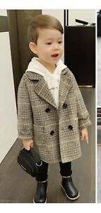 Next Kids Boys Wool Blend Trench Coat Single Breasted Jacket Coats new