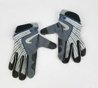 Nike Fit Dry Gloves Faded Blue Gray And Black Size Large