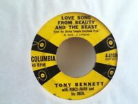 TONY  BENETT  45  SINGLE  ,  WEARY BLUES  FROM  WAITIN / LOVE SONG FROM BEAUTY