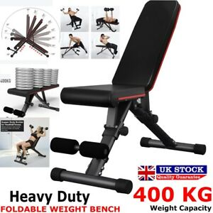 ADJUSTABLE FOLDABLE WEIGHT BENCH FLAT/INCLINE/DECLINE SIT UP HOME GYM