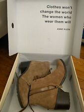 Anne Klein Brown Booties Womens Size 8 Without Box