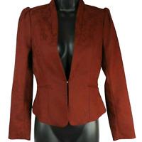 NWT H&M Burgundy Floral Shoulder Padded Jacket Women's Size 4