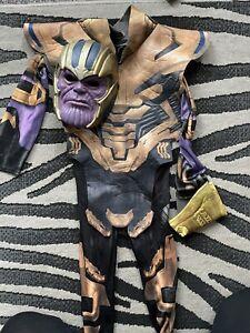 Marvel Avengers Thanos Deluxe Kids Fancy Dress Costume Dress Up 5-7 Years & Mask
