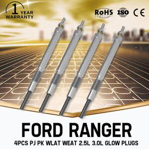 4X Diesel Glow Plugs FIT FORD RANGER PJ PK WLAT WEAT 2.5L 3.0L Set