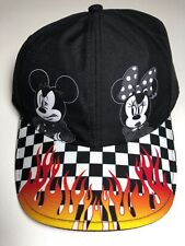 Vans Disney Mickey Minnie Mouse Checkerboard Flame Cap Hat Nwt Adjustable