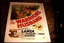 WARRIORS HUSBAND ORIG MOVIE POSTER  1933 LINEN ELISSA LANDI