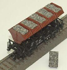043 H0 Ladegut für Märklin Muldenkippwagen 46355, 4635, Schotter - grau, OVP