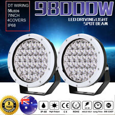 Pair 7inch 98000W CREE LED Spot Driving Lights Round Work Light OffRoad White AU