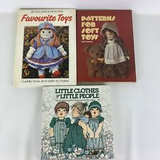 Set of 3 Craft sewing Books patterns for Toys Little clothes for little people