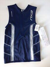 2XU Triathlon Top - Comp Tri Singlet - Farbe Blau - Herren M - UVP 69,95