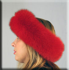 New Red Fox Fur Headband Efurs4less