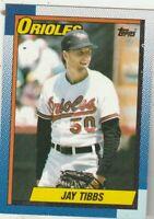 FREE SHIPPING-MINT-1990 Topps Baltimore Orioles  #677 Jay Tibbs PLUS BONUS CARDS
