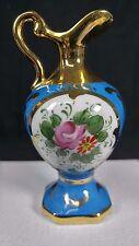 Antique Vintage Miniature Pitcher French Porcelain Original Limoges Decor Main
