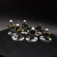 Pro Painted 28mm Bolt Action German Winter grenadier tank hunters ×6 ww2