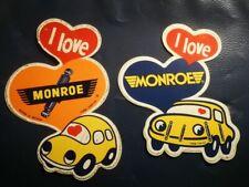 R6 2x sticker MONROE SHOCKS AND STRUTS F1 GP racing grand prix rally autocollant
