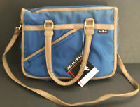 Vintage '80s Canvas Blue Tote Bag NWT Rare Secretary Purse Work Organizer